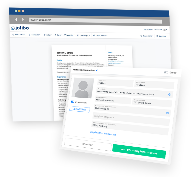 Jofibo - Most simple and intuitive free resume builder