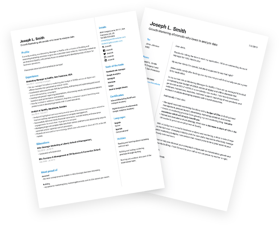 Jofibo - Resume and Cover Letter Builder