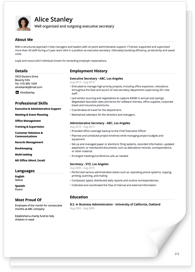 Free CV Templates You can Fill in Easily [Updated for 2020]