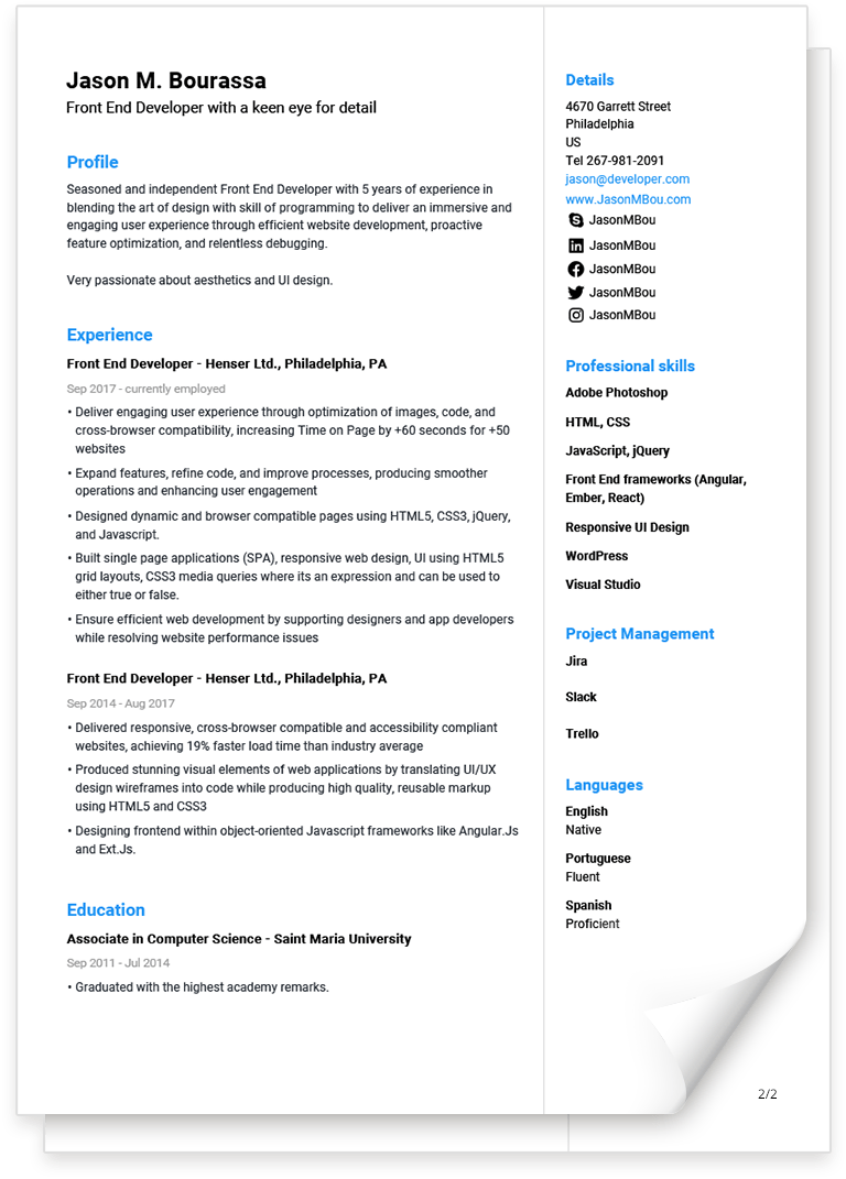 Free CV Templates You can Edit and Download Easily.