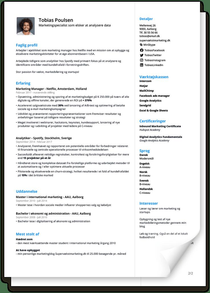 CV skabelon: udfyld enkelt og nemt [2021]