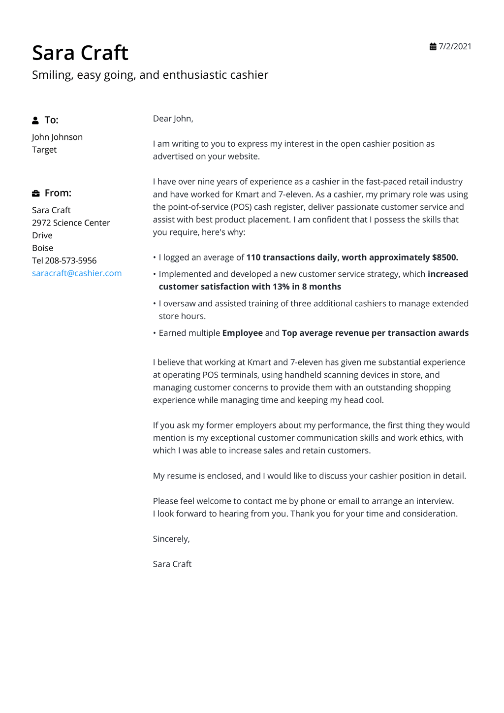 Cover Letter Templates for 40 [Free Download]
