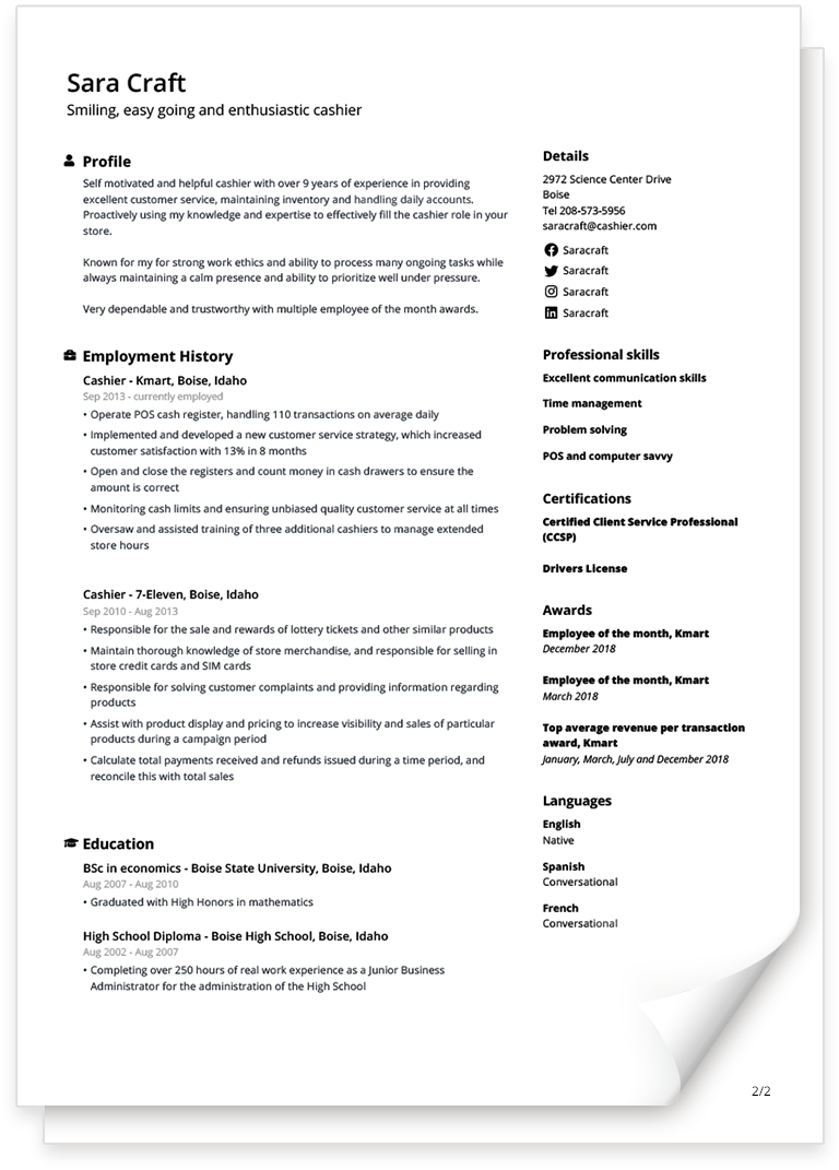 Free Cv Templates You Can Fill In Easily Updated For 2020