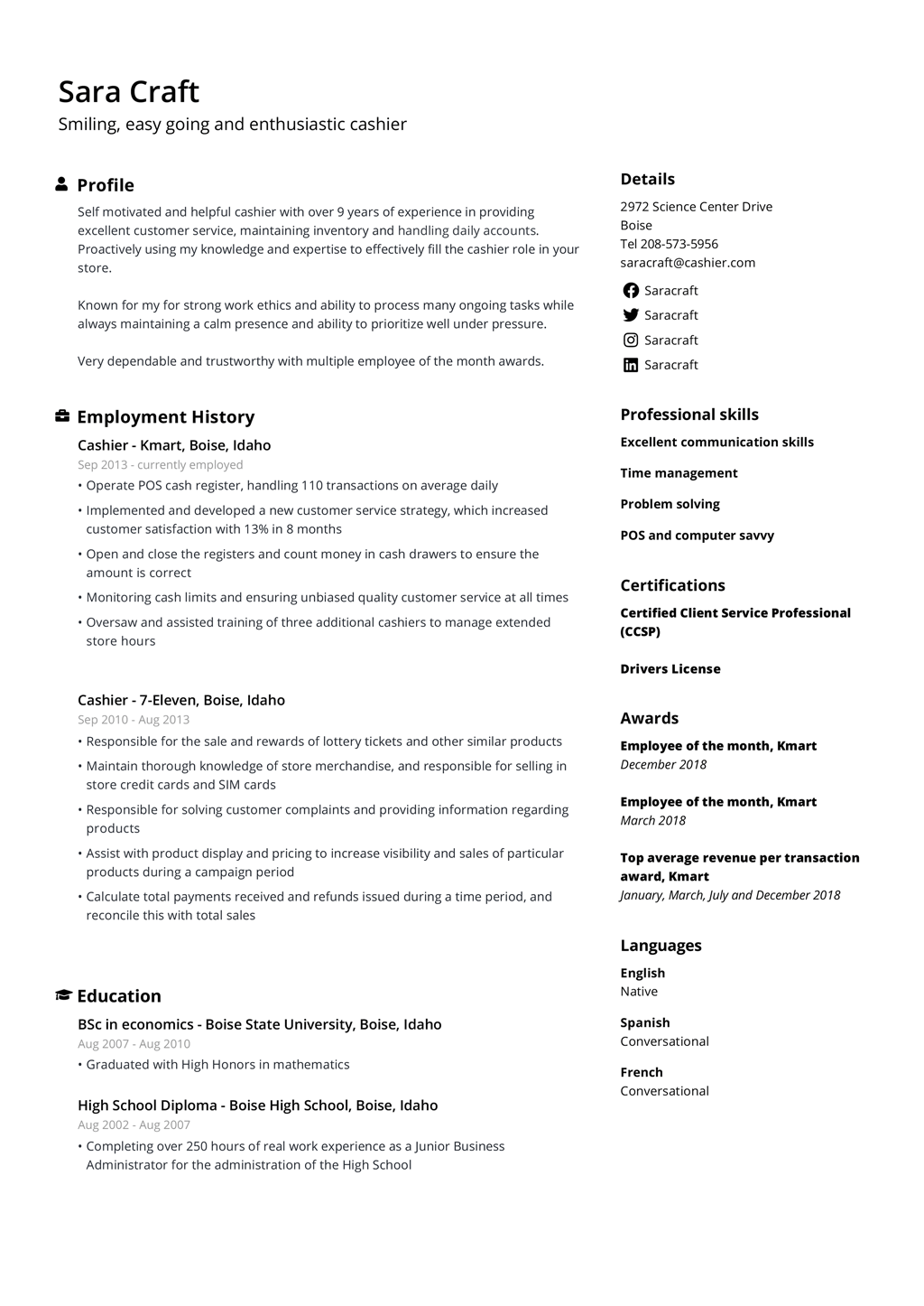 Resume Templates for 2021 Edit & Download